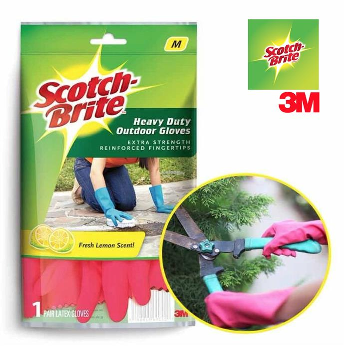 3M Scotch Brite Heavy Duty Gloves Outdoor Latex Glove