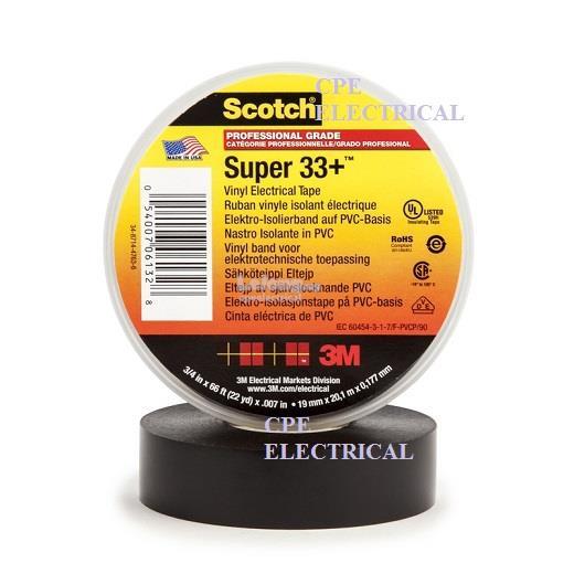 3M Scotch® Super 33+™ Vinyl Electrical Tape 3/4