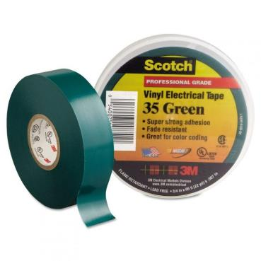 3M Scotch Vinyl Color Coding Electrical Tape 35 Green