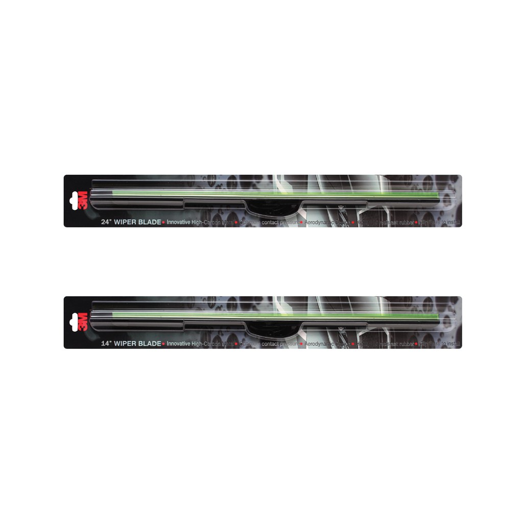 "3M Wiper Blades, UV Resistant Rubber (24 "" / 14 "") - Toyota Vios"