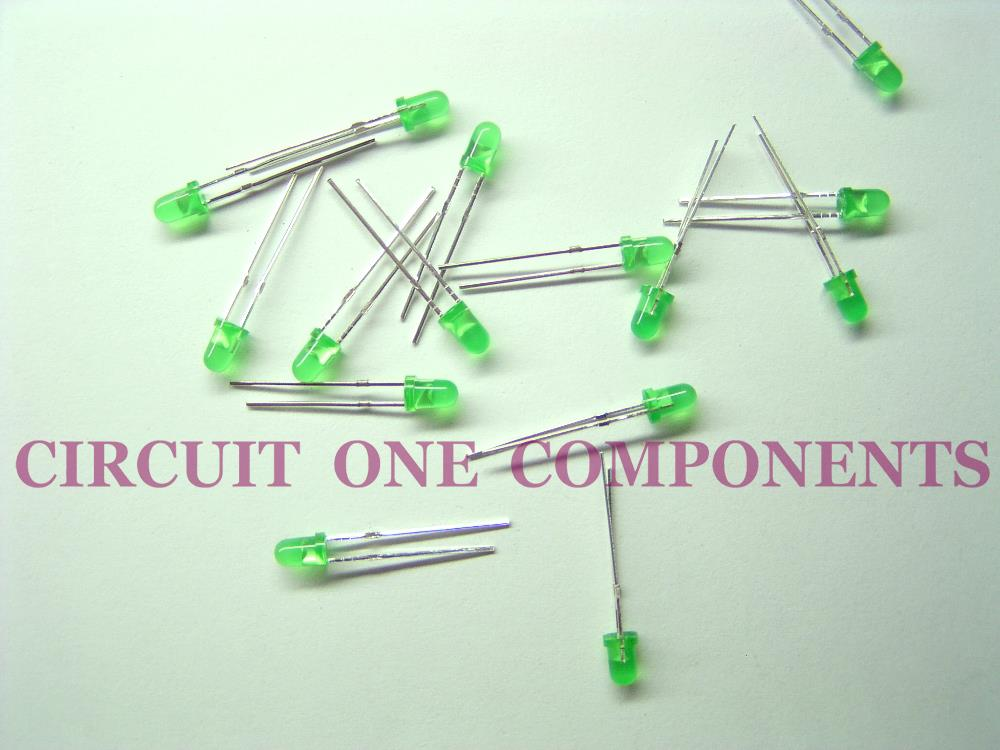 3mm LED Green Color - Each