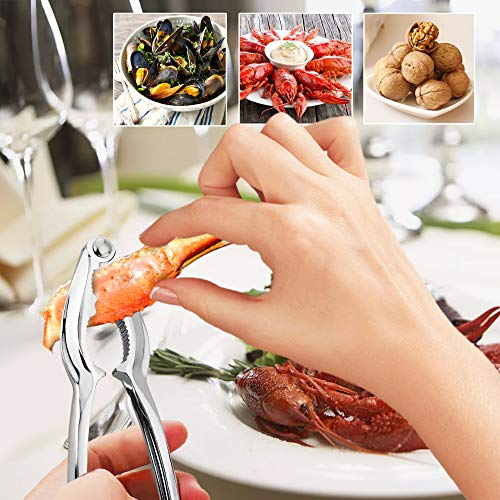 3Pandas 10-Piece Seafood Tools Set - Multipurpose Seafood Crackers and Forks -
