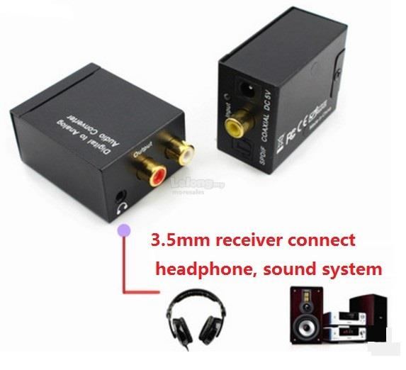 3pc Set USB Powered Digital to Analog Audio Stereo Converter Adapter S