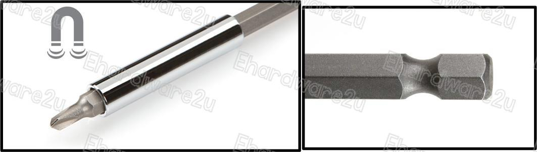 3Pcs 1/4' Hex Shank Magnetic Bit Holder Extension (MRB11X3)