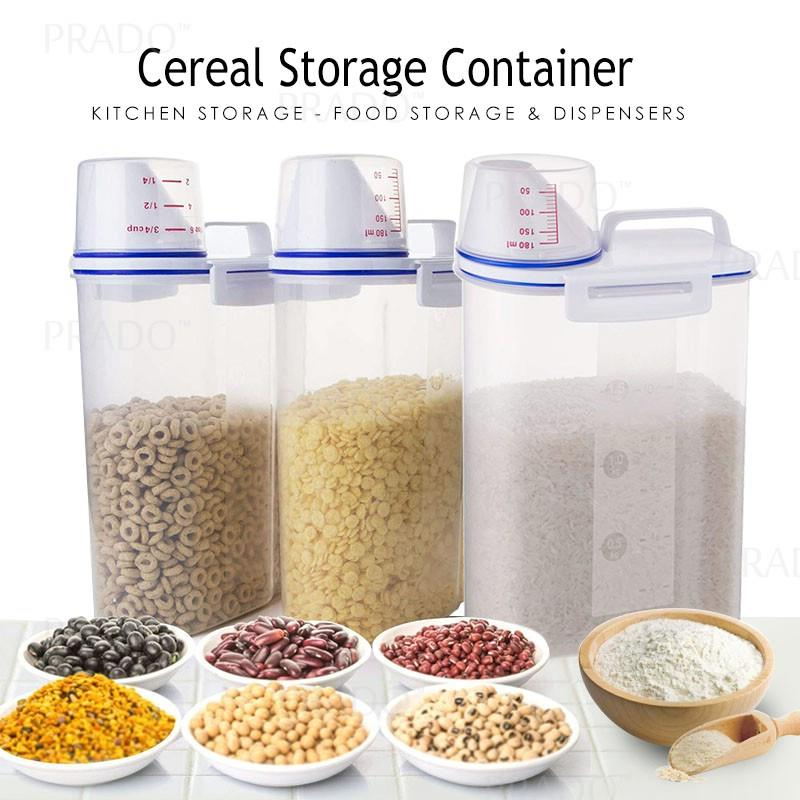 bb23124388d5 3pcs 2.5KG Airtight 100% Sealed Rice Bean Cereal Storage Container