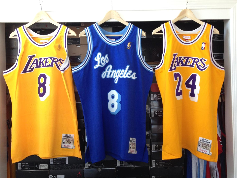 timeless design 37211 277fc Any 3pcs Kobe Bryant Swingman Jersey