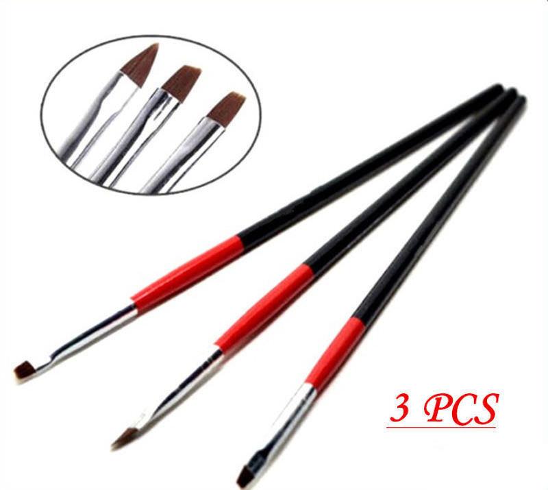 3pcs Nail Art Brushes Uv Gel Nail End 12242020 1200 Am