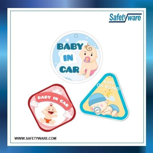 3pcs QUICKSIGN CBBS – Set2 BABY IN CAR & BABY ON BOARD Car Sticker