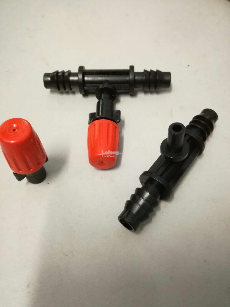 3pcs Spray Sprinkler Heads Nozzle and Connector