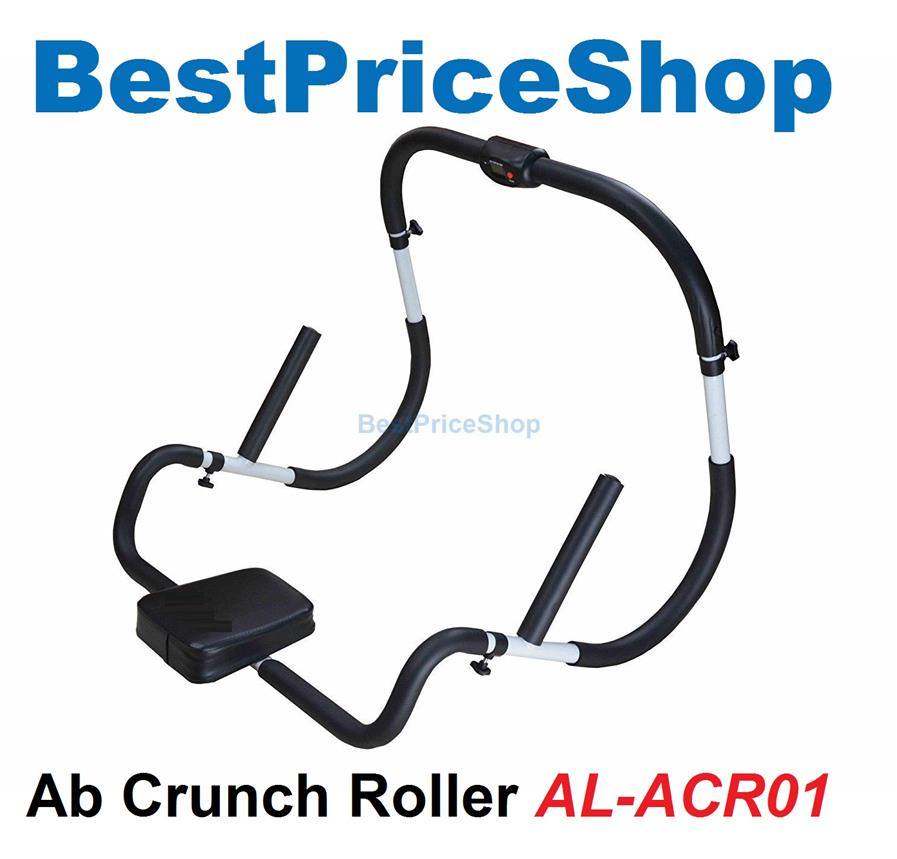 3rd Gen AB Crunch Roller Head Rest & Handle Six 6 Packs Abs Workout