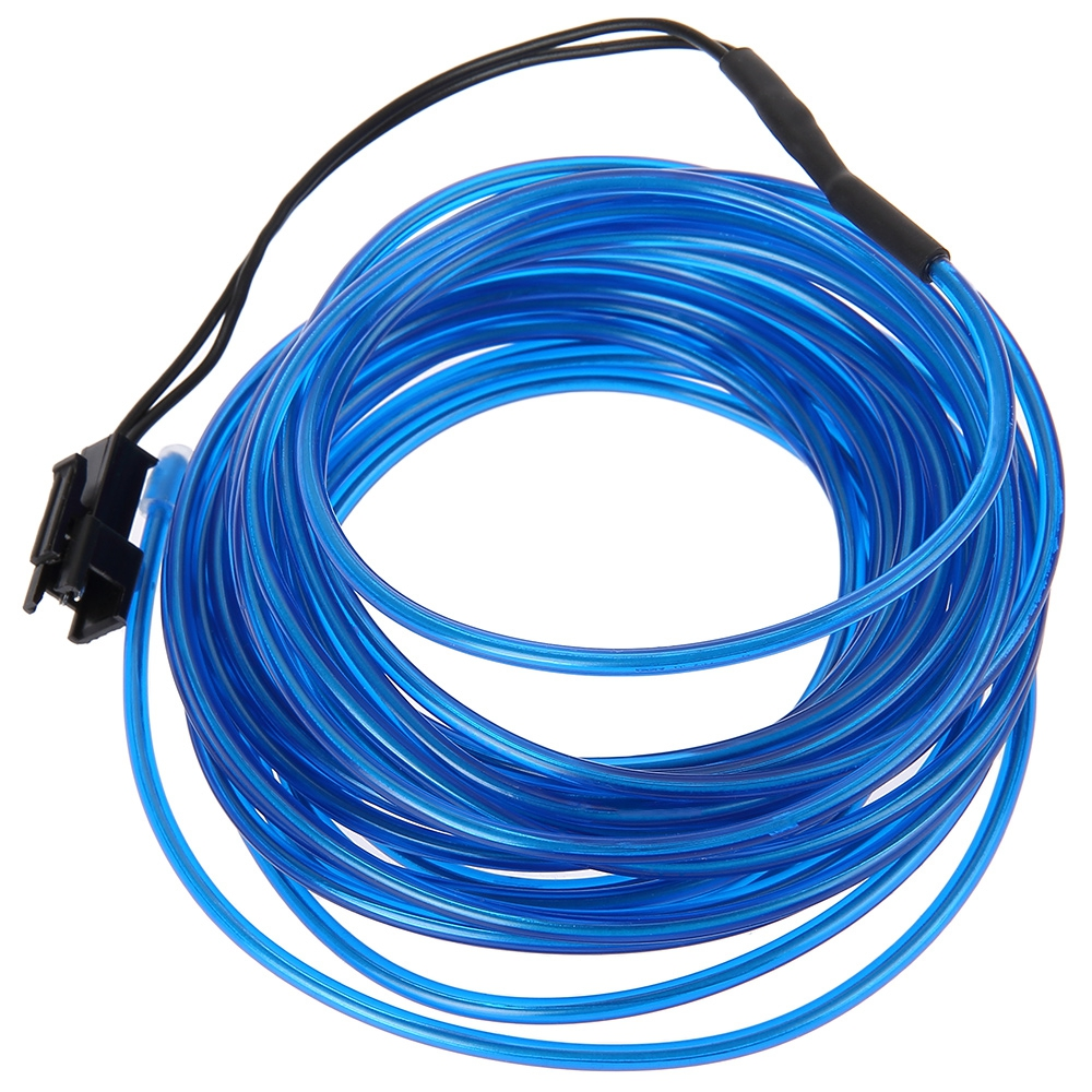 3V FLEXIBLE LED NEON LIGHT GLOW EL WIRE STRIP (BLUE, 1M/3M/5M)