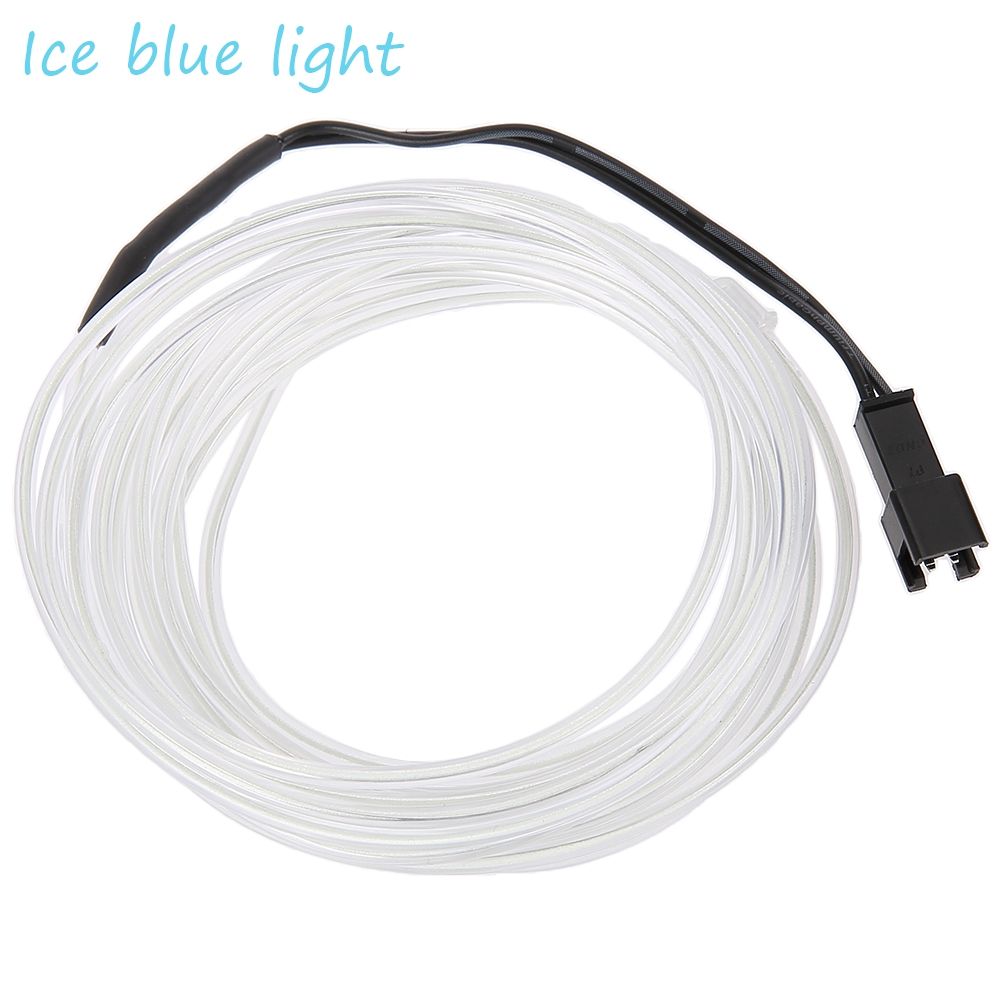 3V FLEXIBLE LED NEON LIGHT GLOW EL WIRE STRIP (ICE BLUE, 1M/3M/5M)