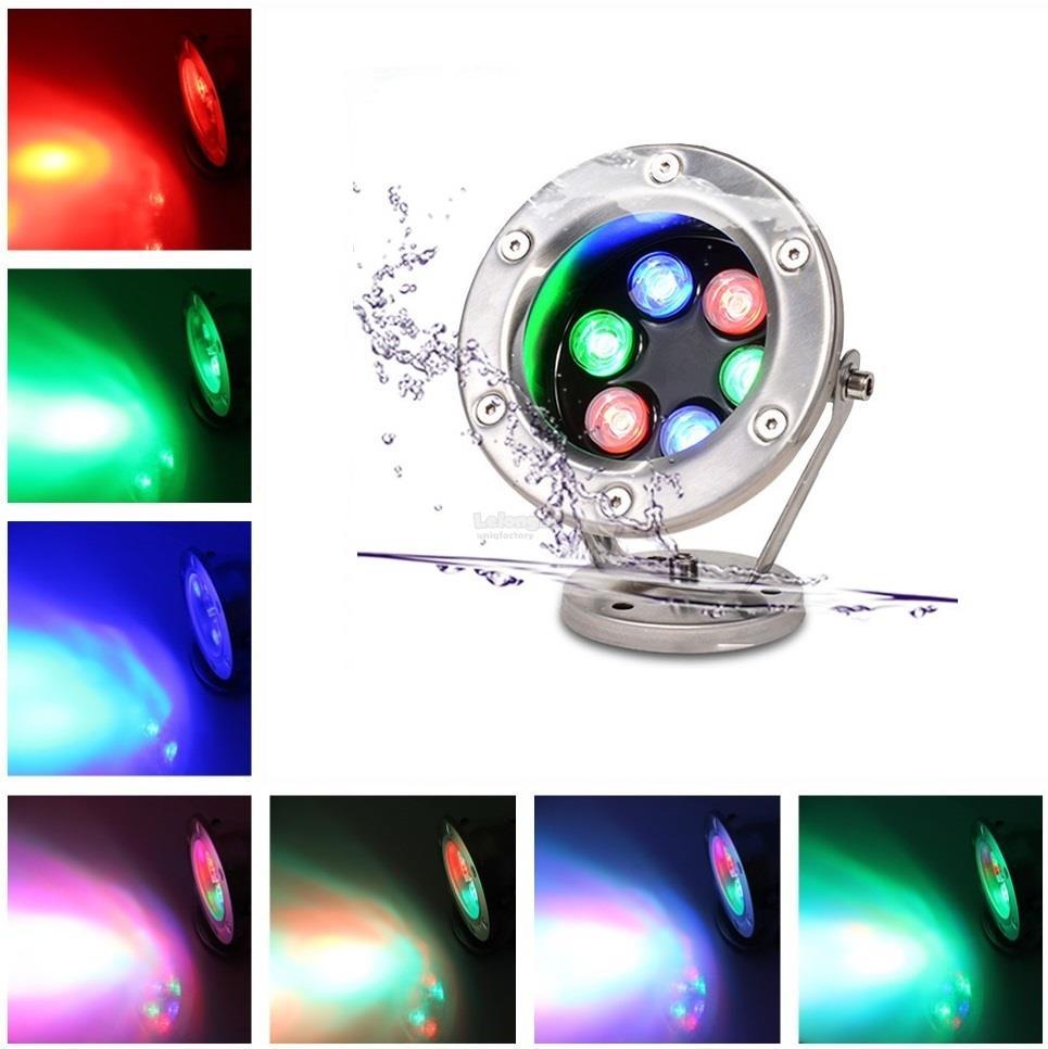 3W 6W AC12V Underwater RGB Waterproof IP68 LED Pool Fountain Light. ‹ ›