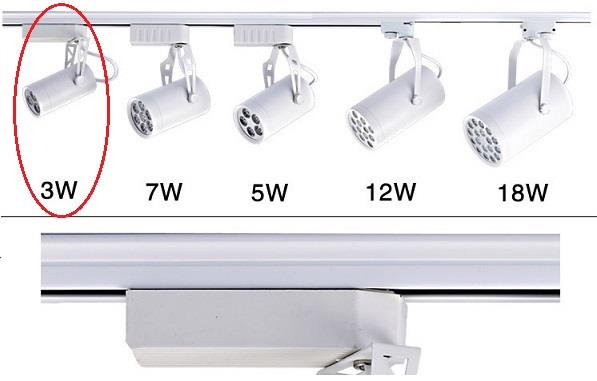 3W LED Display Spotlight Rail Light Ceiling Track Light