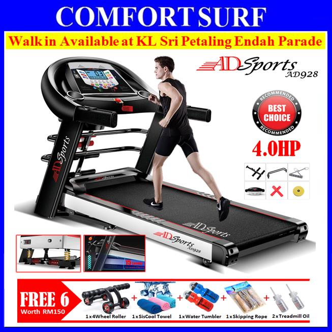 4 0hp adsports ad928 motorize elect end 11 24 2019 2 50 pm rh lelong com my Folding Manual Treadmill Curved Manual Treadmills