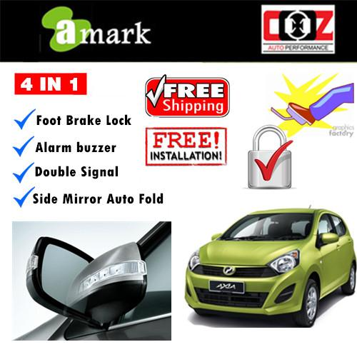 4 IN 1 BUZZER + BRAKE LOCK + AUTO FOLD PERODUA AXIA SE ADVANCE G SPEC