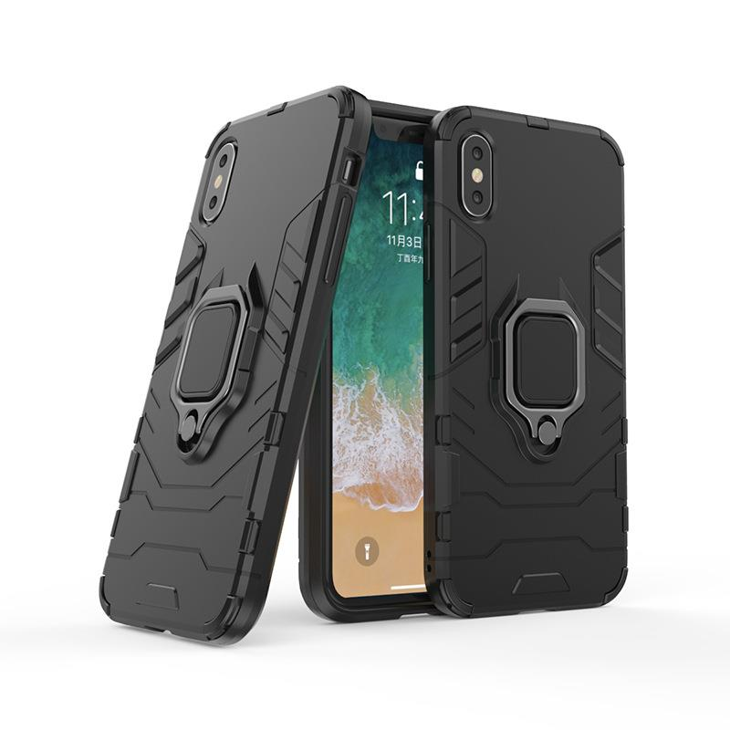 competitive price 8dd41 b4c64 4 in 1 Honor 8X Magnetic Ring Car Holder Armor Stand Back Case Cover