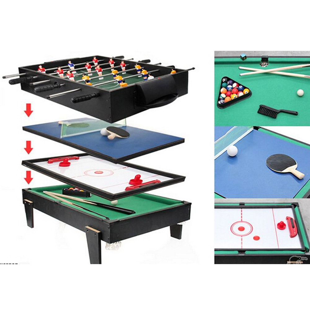 Marvelous 4 In 1 Multi Game Table Pool / Air Hockey / Table Tennis / Table Socce