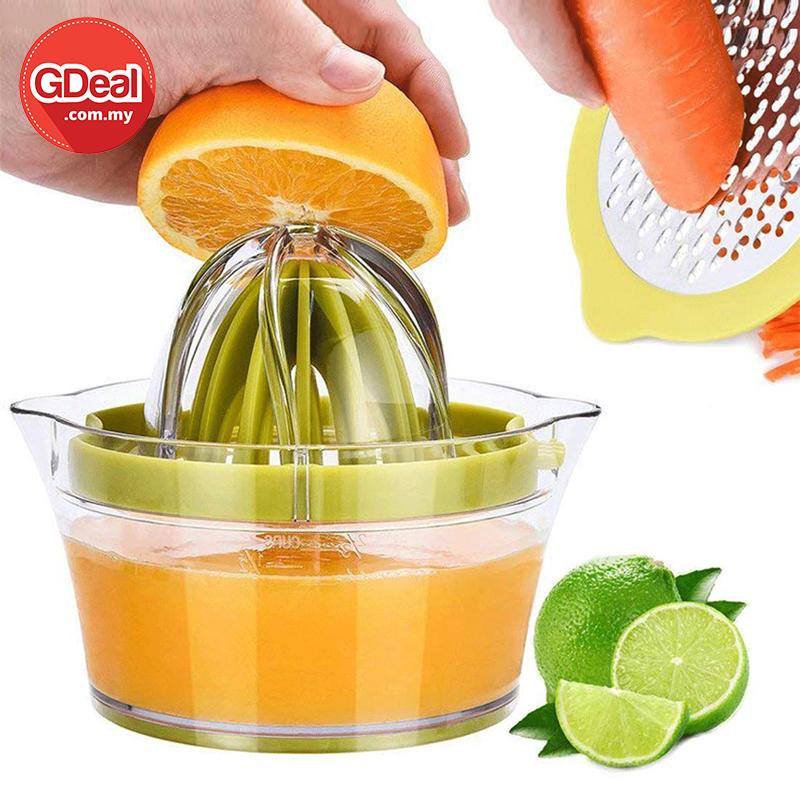 4-In-1 Multifunction Manual Juicer Cup Fashion Green Orange Juicing