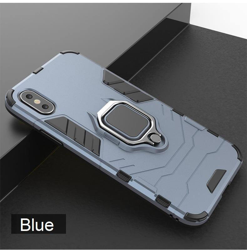 new style d228f 7ab4e 4 in 1 oppo A3s F9 Magnetic Ring Car Holder Armor Back Case Cover
