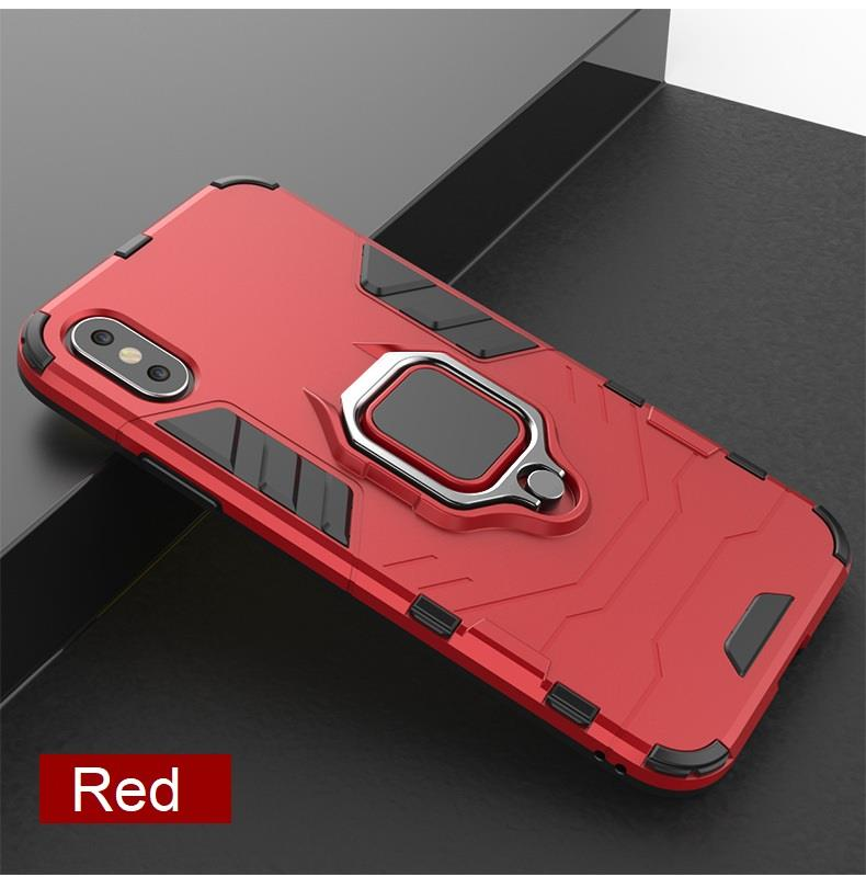 size 40 419a3 73aba 4 in 1 PocoPhone F1 Magnetic Ring Car Holder Armor Back Case Cover
