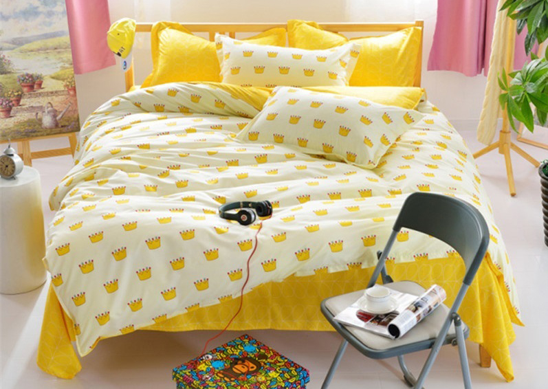 4 In 1 Queen Size Fitted Bed Sheets Creative Design   3 Colors Availab. U2039 U203a