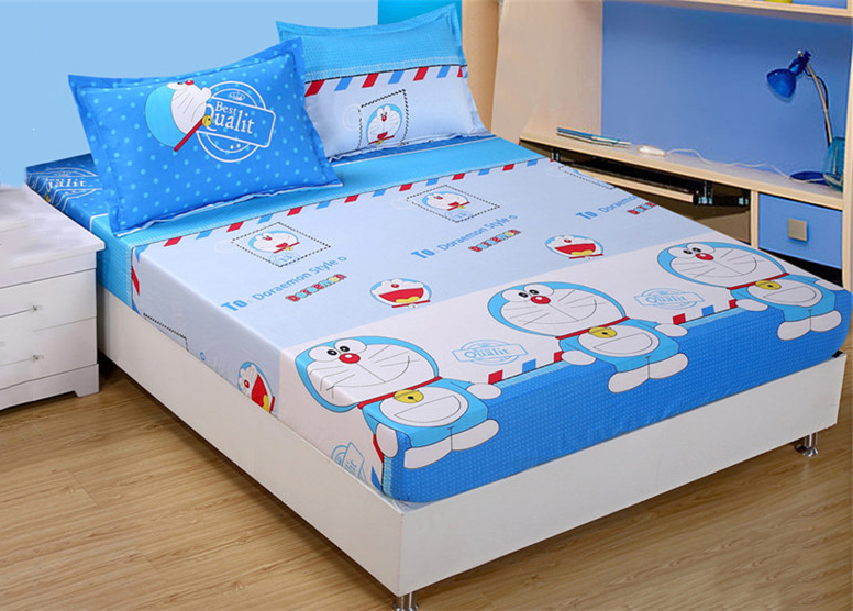 4 In 1 Queen Size Fitted Bed Sheets Cute Cartoon Design   3 Designs. U2039 U203a