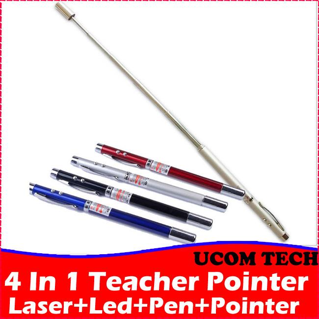 4 In 1 Teacher Pointer, Laser, Pen, Torch Light, Pointer