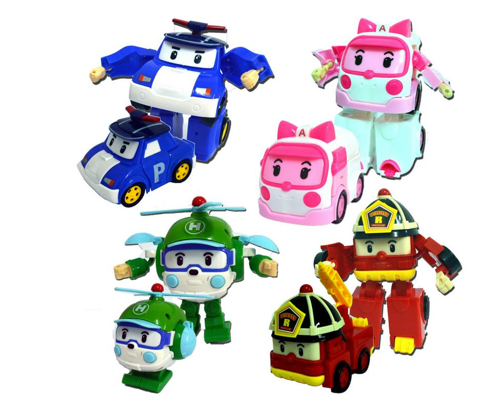 4 In 1 Transformer Robocar Poli/Amber/Roy/Heli