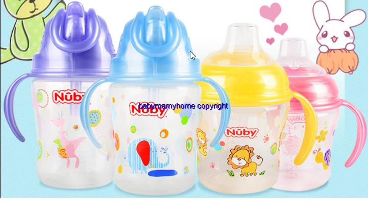 4-12 Months Nudy No Spill Easy Hold Double Removable Handle Cup