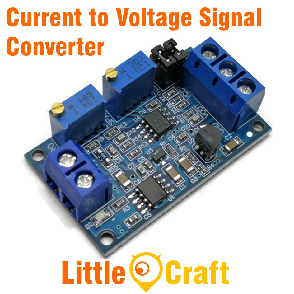 Current to Voltage Module 4-20mA to 0-10VSignal Converter Module with Base