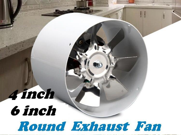 4,6 inch High Speed Round Exhaust Fan Ventilation Fan 100mm,150mm