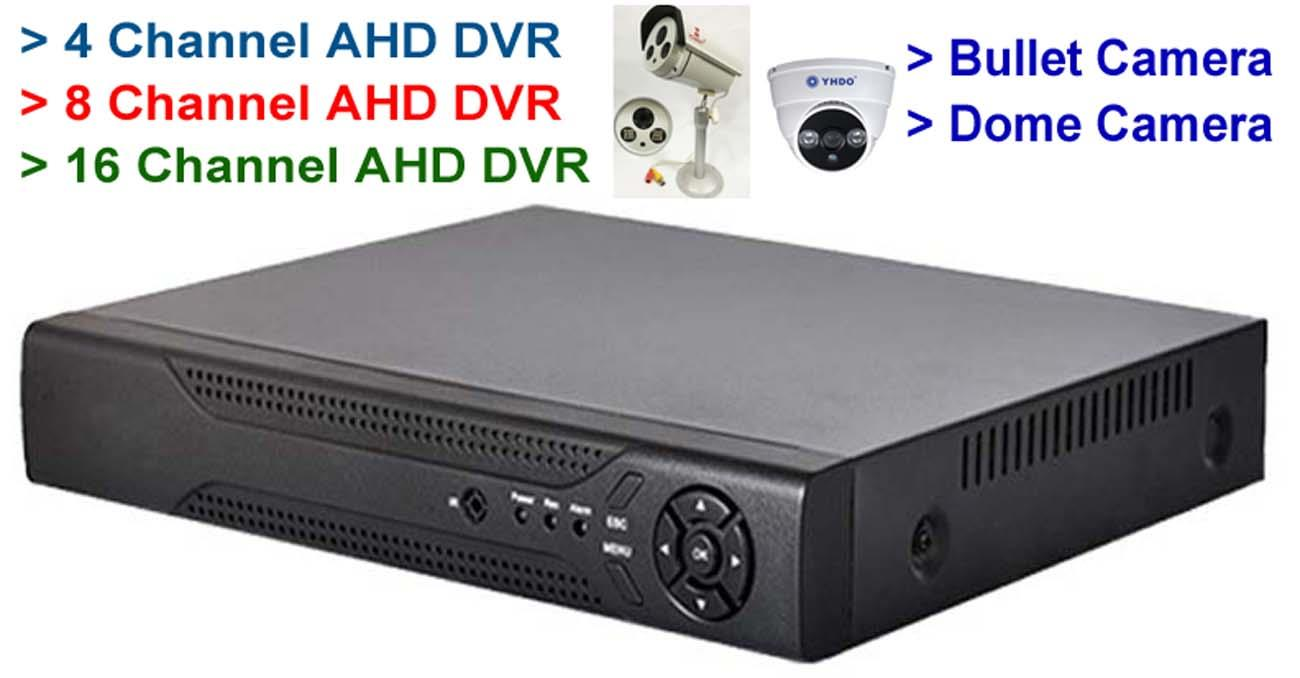 4, 8, & 16 CH Channel AHD CCTV DVR P (end 7/30/2019 4:15 PM)