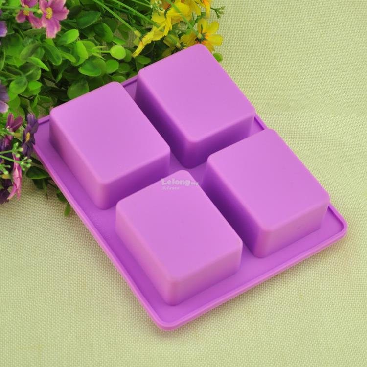 4 Cavities Tree Silicone Soap Jelly Cake Mould Mold