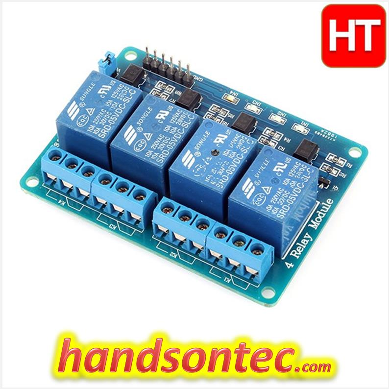 4 Channel 5V Optical Isolated Relay Module