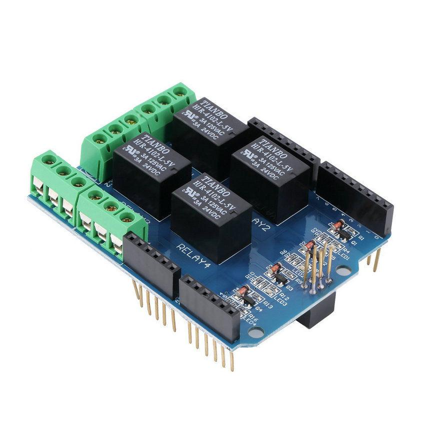 4 Channel 5V Relay Module Board Shield for Arduino