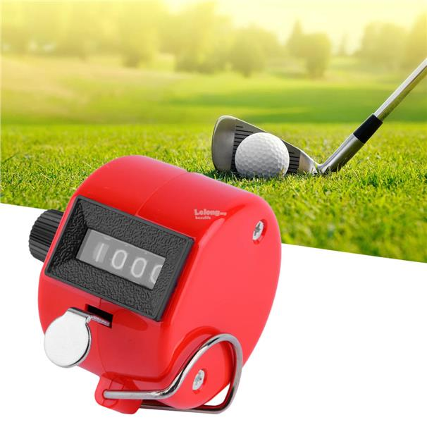 4 Digit Hand Held Tally Counter Manual Clicker Number Counting Golf
