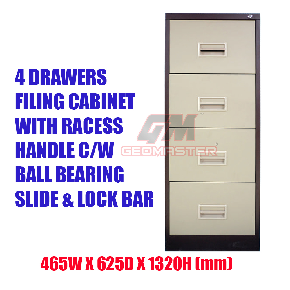 low priced 41adb 48d60 4 Drawers Metal Filing Cabinet With Lock II