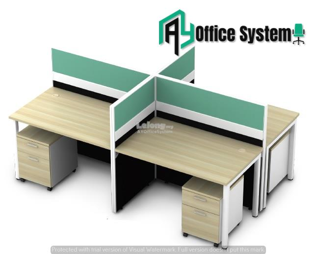 4 Feet Rectangular Shape Office Table Partition Workstation - R 16