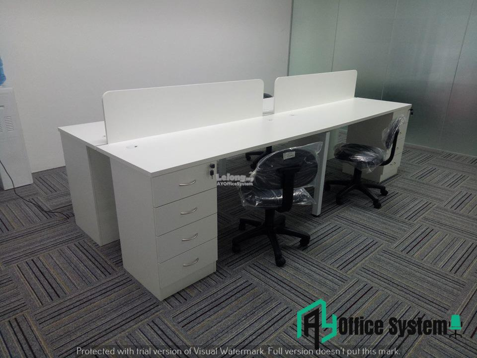 4 Feet Rectangular Shape Office Table Partition Workstation - R 19