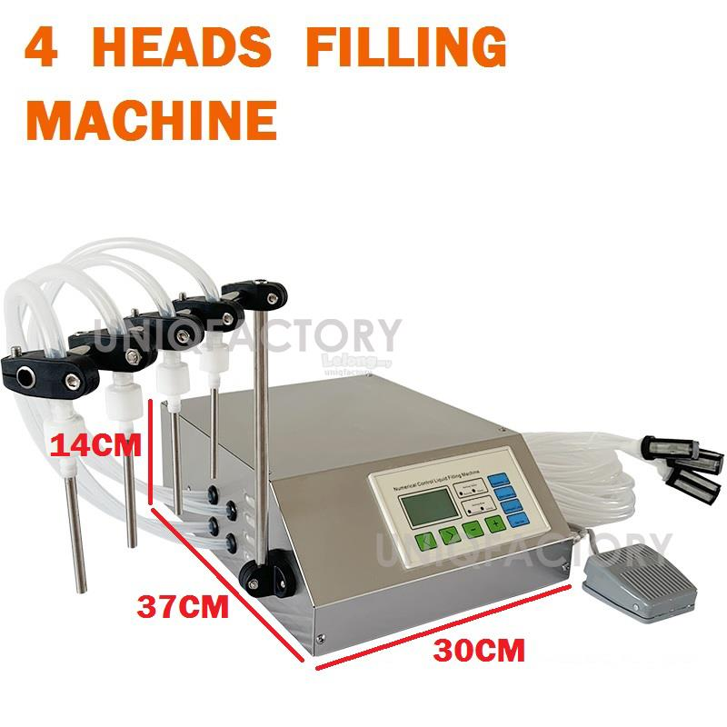 4 Head Digital Liquid Filling Machine Water Juice Perfume Milk Filler