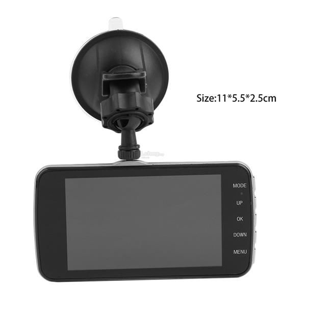 4 Inch HD 1080P Dual Lens Camera Car DVR Video Recorder G-Sensor S9000
