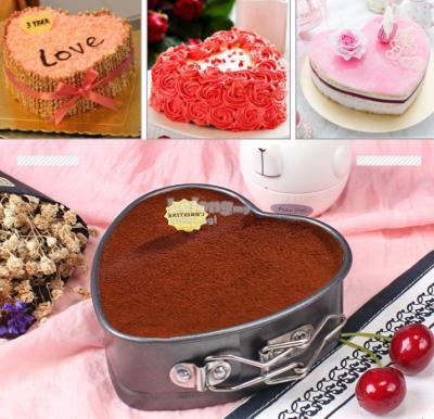 4 inches Heart Shaped Springform Cake Tin