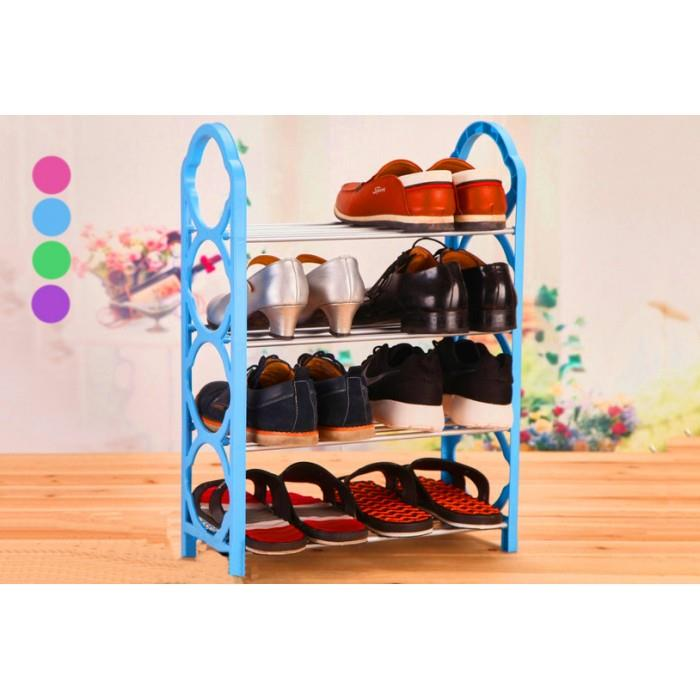 4 LAYER SIMPLE SHOE RACK STORAGE RACK DISPLAY CABINET (RANDOM COLOUR)