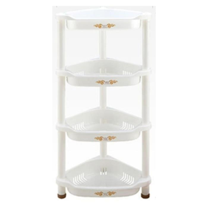 Attractive 4 Layer Triangle Rack Storage Shelves For Kitchen Bathroom