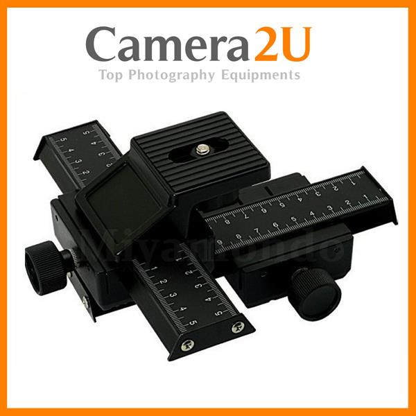 4 Way Macro Focusing Rail Slider For DSLR Camera