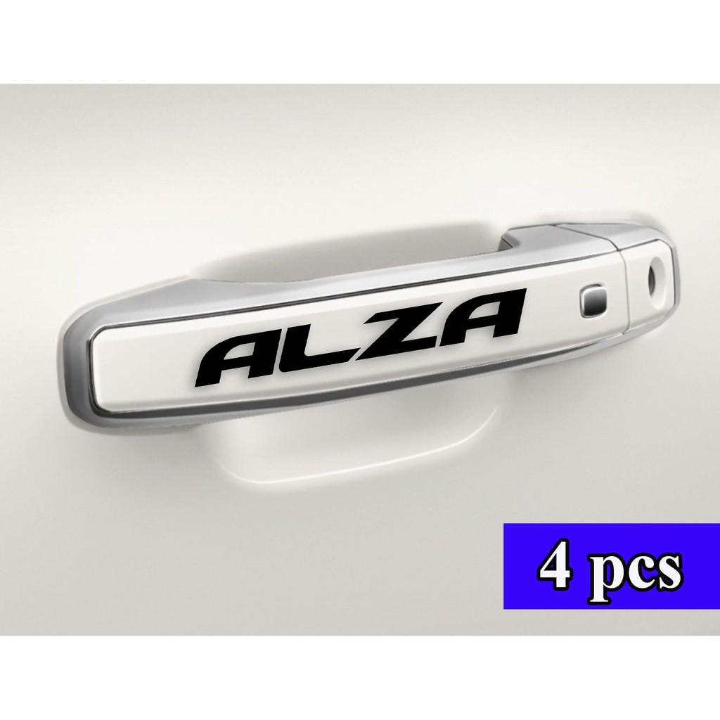 4 Pcs Perodua Alza Car Door Handle Stickers Decal Vinyl Waterproof