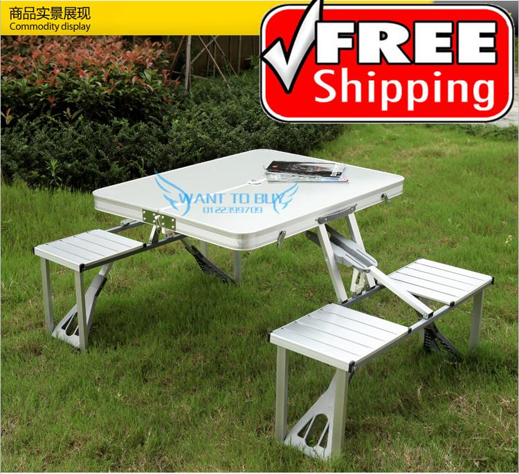 New 4 person aluminium foldable tabl end 6 12 2016 1 15 am for 10 person picnic table