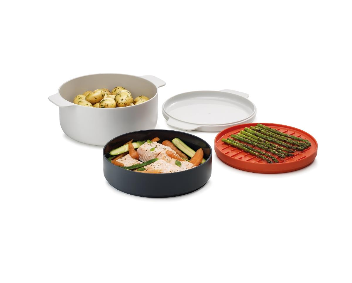 4 Piece Stackable Cooking Set Microwave Safe BPA Free