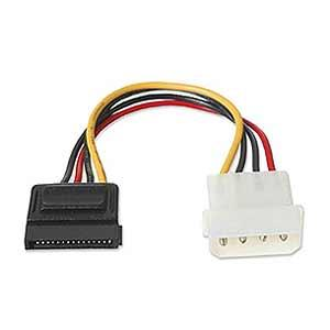 4-Pin Male Molex To 15-Pin Female SATA Power Cable Converter